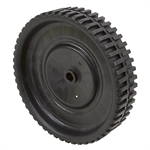 "10"" X 2.25"" Black Plastic Geared Wheel"
