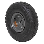 4.10/3.50-4 Gray Wheel And Tire Assy w/axle plate