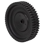 Black Plastic Wheel w/ 56 Tooth Gear
