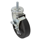 5 X 1-1/4 Jarvis Threaded Stem Swivel Caster w/Brake