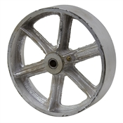 "8x2 Cast Iron Wheel 1/2"" Bearing"
