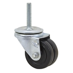 "3"" Dual Wheel Threaded Stem Caster"
