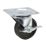 4x1.25 Swivel Plate Caster with Brake