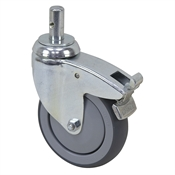 5 x 1-1/4 Swivel Stem Caster w/Brake & Swivel Lock