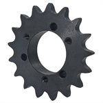 18 Tooth 40 Pitch QD Bushed Bore Roller Chain Sprocket 40JA18H