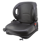 High-Pro Industrial Seat w/ Suspension and Seat Belt 390125BK