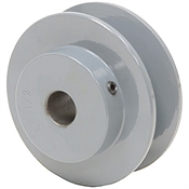 2.55 OD 1/2 Bore 1 Groove Pulley