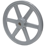 5.95 OD 7/8 Bore 1 Groove Pulley