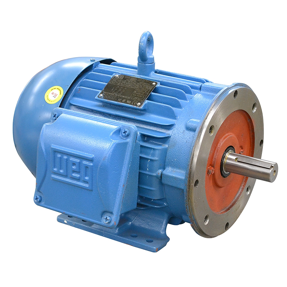 5 HP 3500 RPM 575 VAC WEG ELECTRIC MOTOR | 3 Phase Motors Base Mount ...