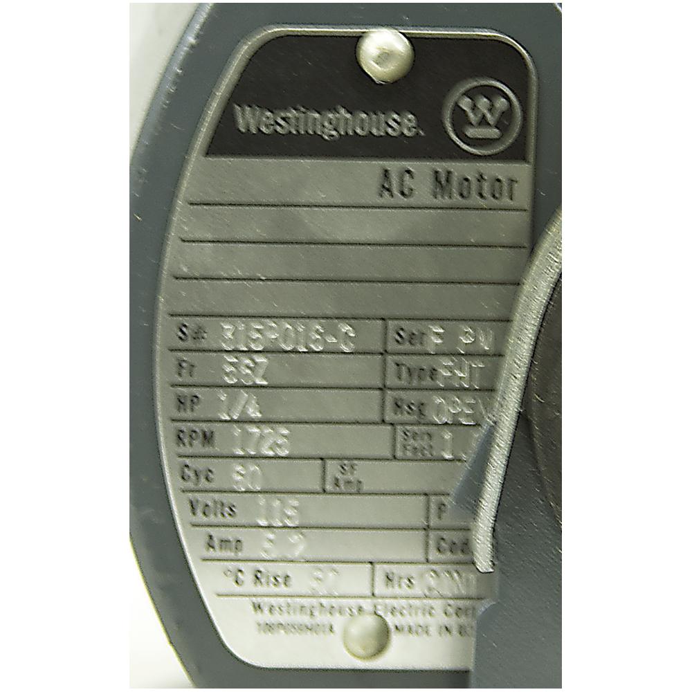1  4 Hp 1725 Rpm 115 Vac Westinghouse Motor 315p016