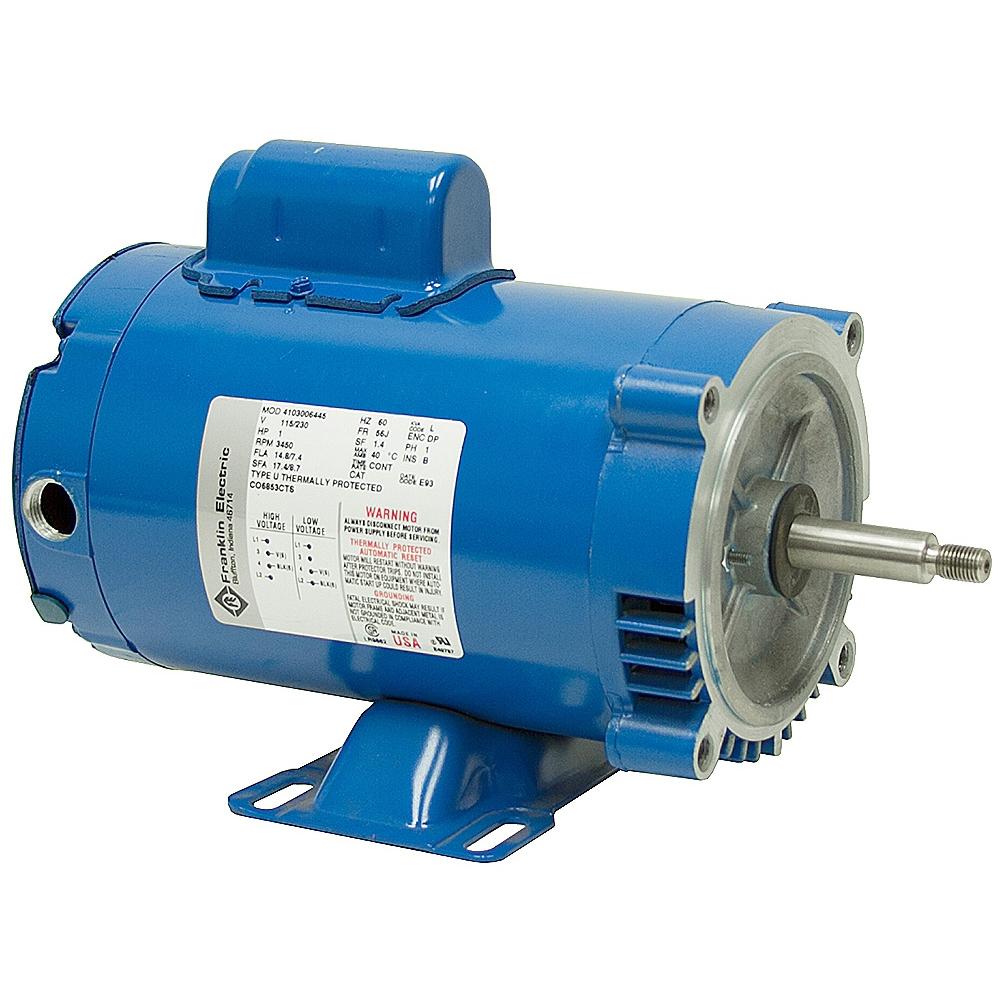 1 hp 3450 rpm 115 230 vac franklin electric pump motor