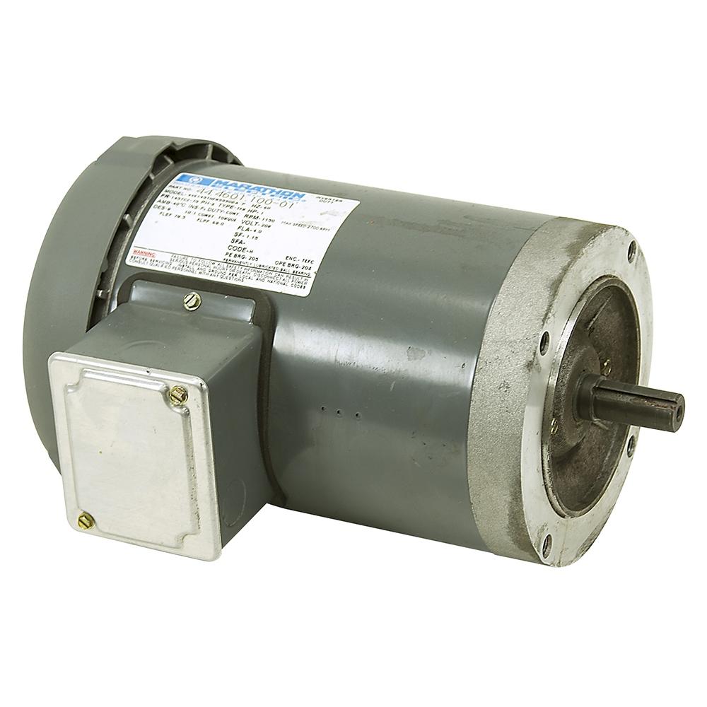 1 hp 1150 rpm 208 vac 3ph marathon motor 4ve145thfr5590da for 1 hp motor rpm