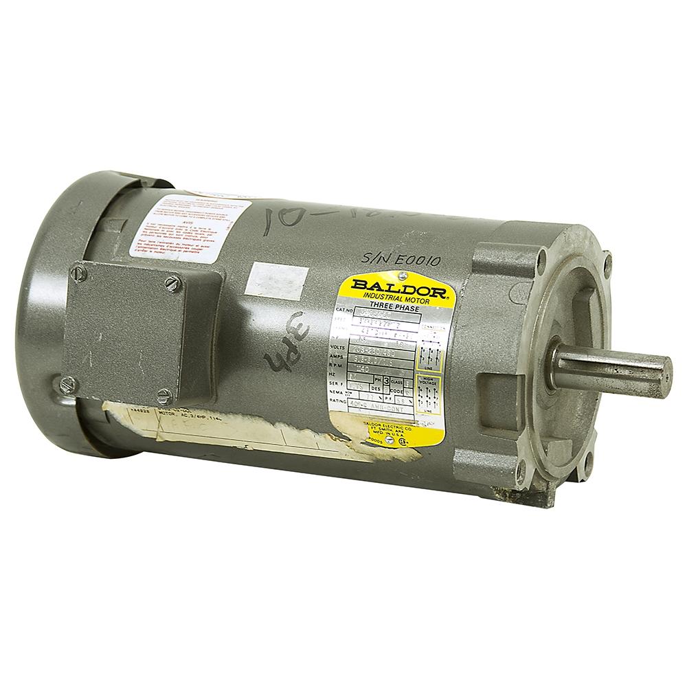 3 4 Hp 1140 Rpm 208 230 460 Vac 3ph Motor Baldor 6105 02