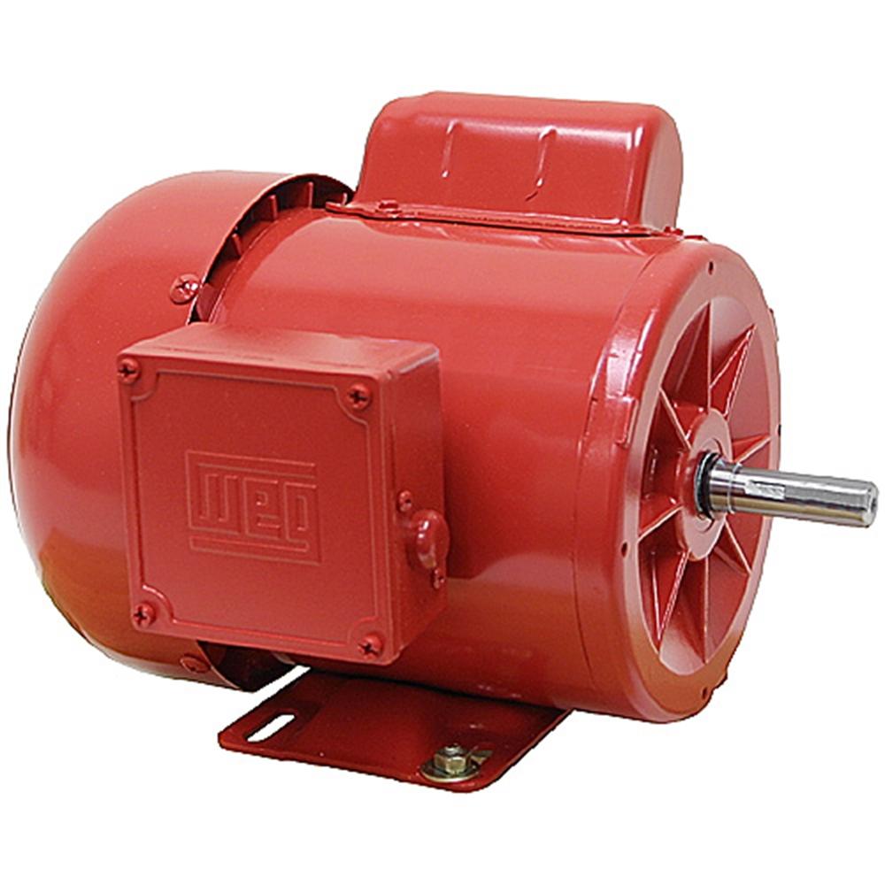 1 2 hp 1750 rpm tefc farm duty motor weg ac motors base for Farm duty electric motor