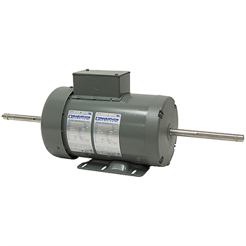 1 5 67 hp 240 vac dual shaft 2 speed motor ac motors for Double ended shaft electric motor