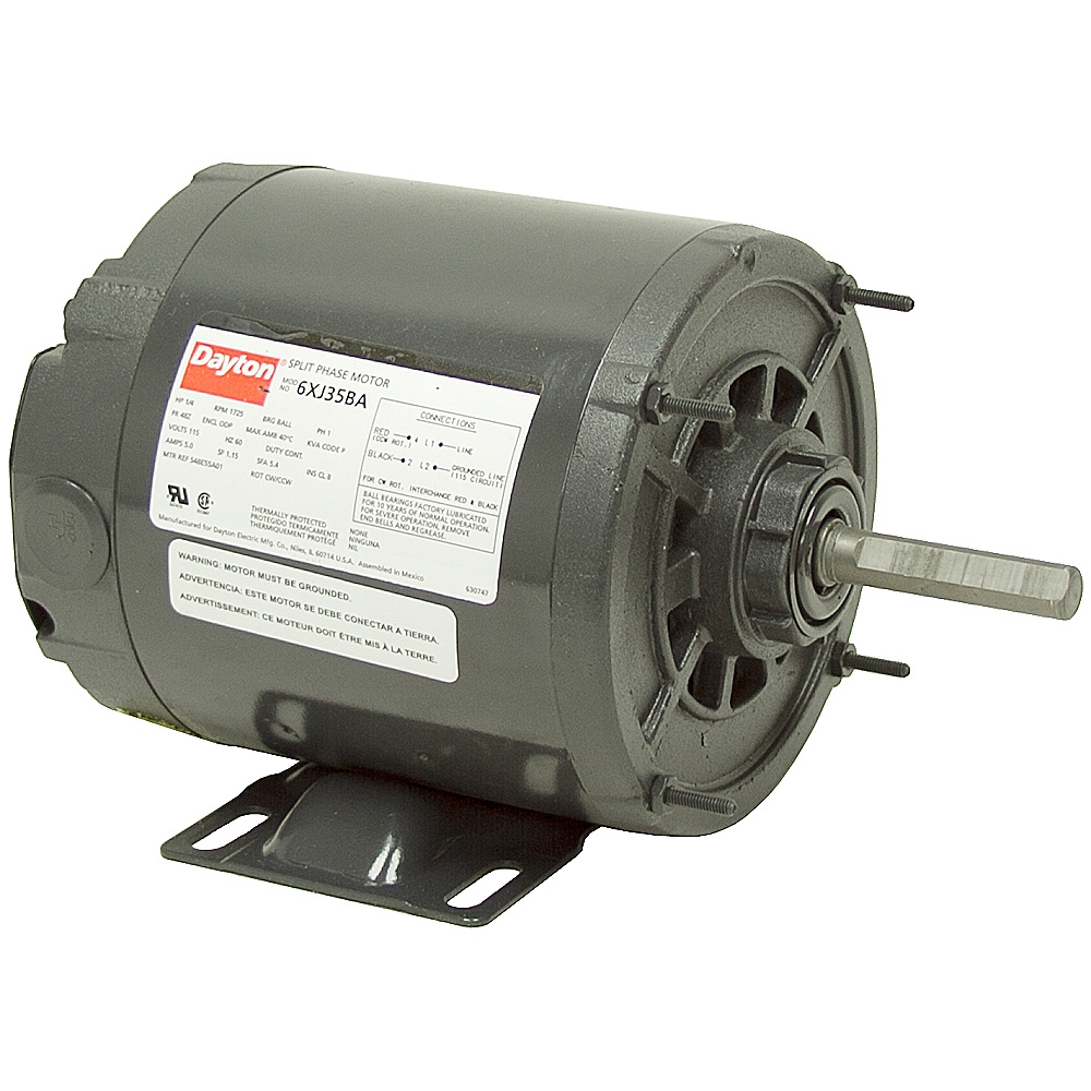 1 4 hp 1725 rpm dayton 120 vac motor ac motors base