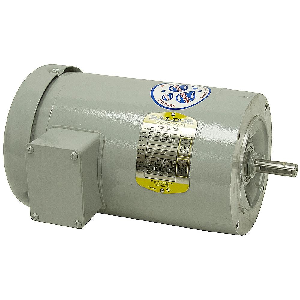 2 Hp 1725 Rpm 208 230 460 Vac 3ph Motor Baldor Vwdm3558