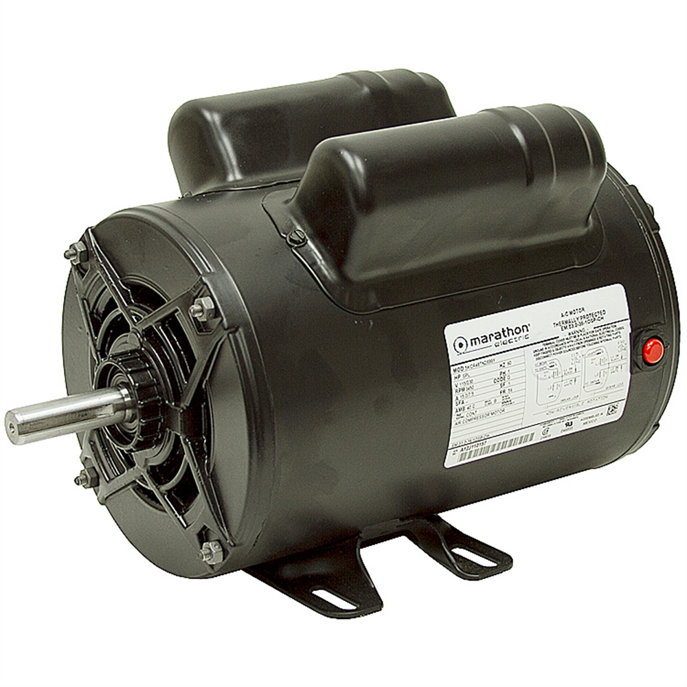 2 HP 115230 3450 RPM Marathon Air Compressor Motor Marathon