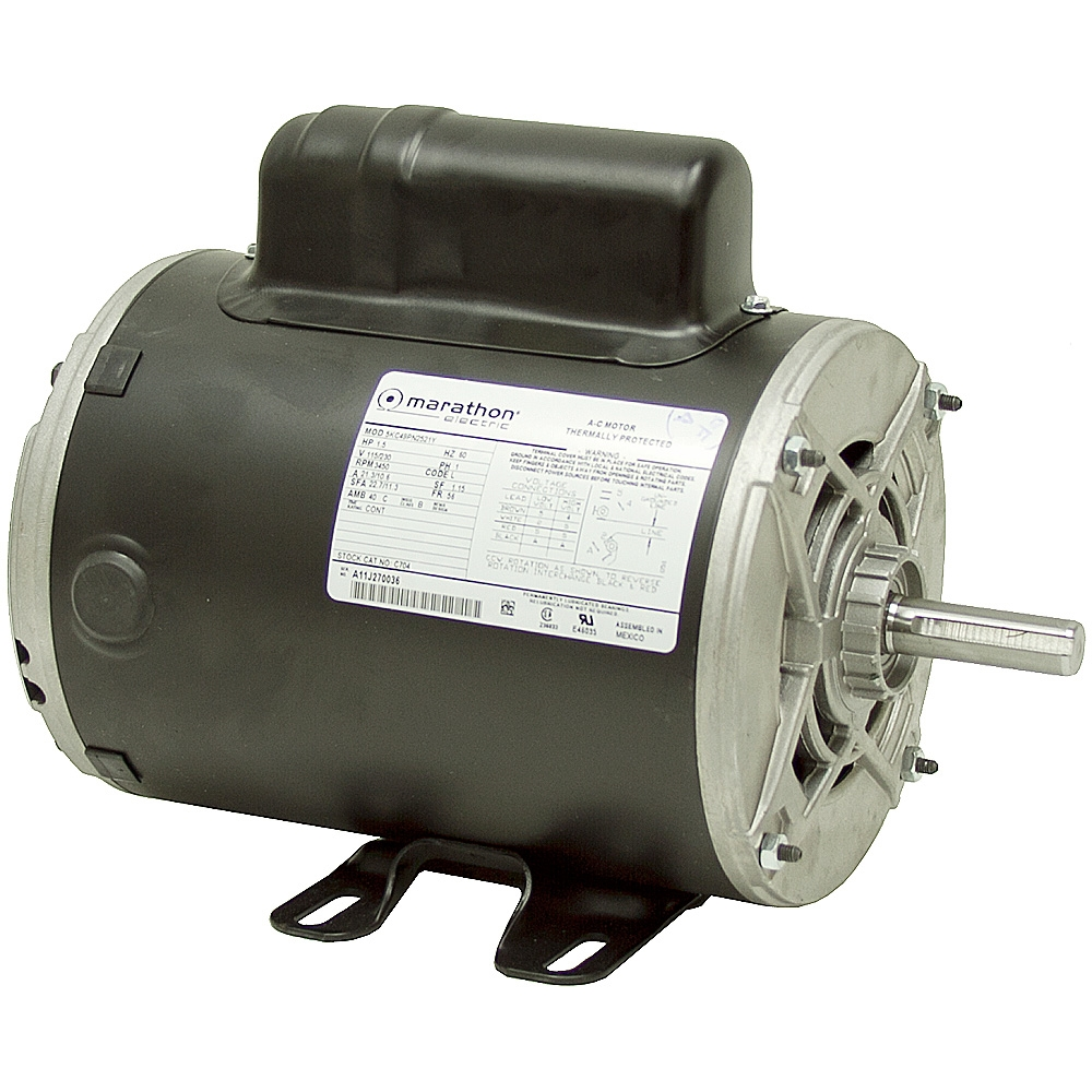 1 5 hp 3600 rpm 115 230 motor odp 5kc49pn2144y ac motors