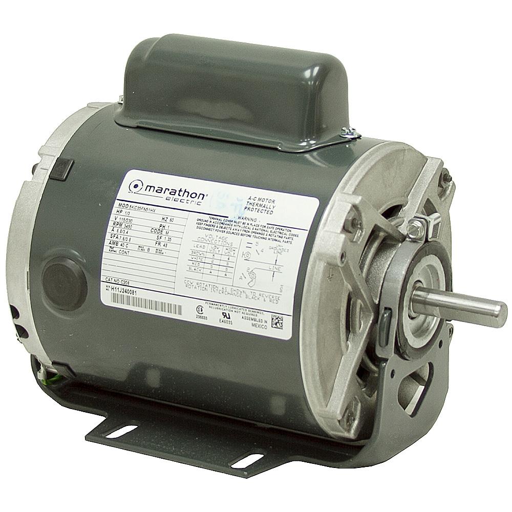 1 2 Hp 3600 Rpm 115 230 Vac Motor 5kc36jn267 Ac Motors