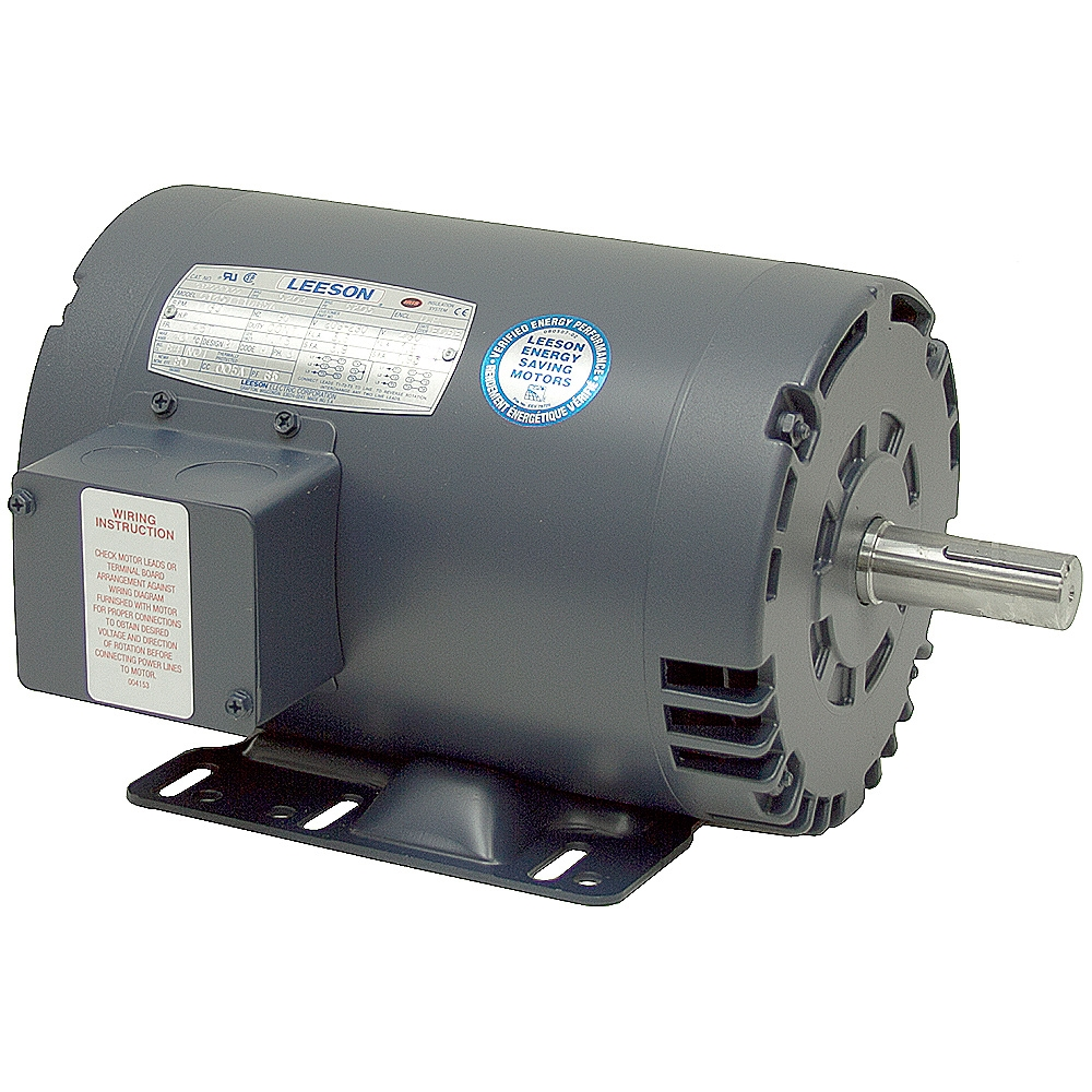 1 hp 230 460 vac 1140 rpm 3ph leeson motor 145t 3 phase for 1 hp 3 phase motor