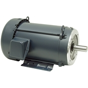 10 HP 230/460 Volt AC 3 Ph 1755 RPM Leeson Motor 215TC