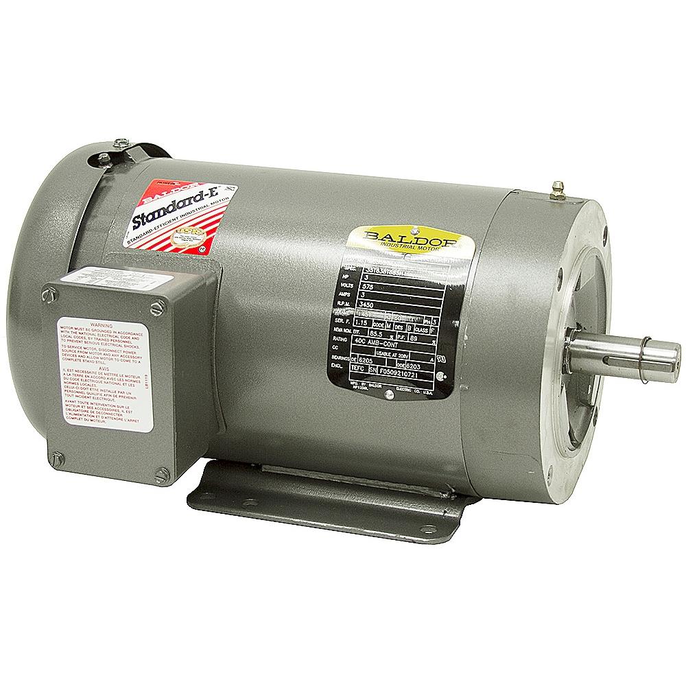 3 Hp 3450 Rpm 575 Volt Ac 3ph Motor Baldor M3559t 5