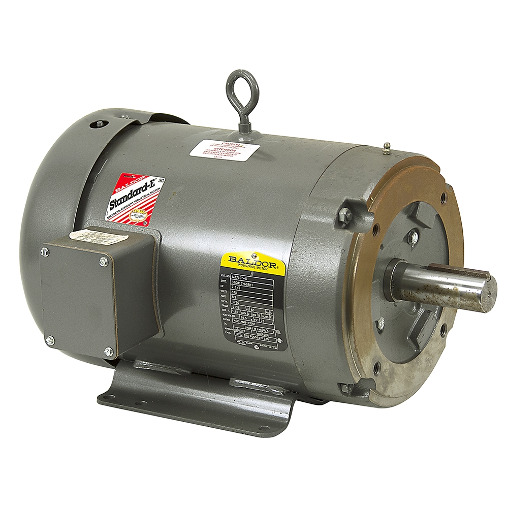 7 5 hp 1760 rpm 575 vac 3ph motor baldor m3710t 5