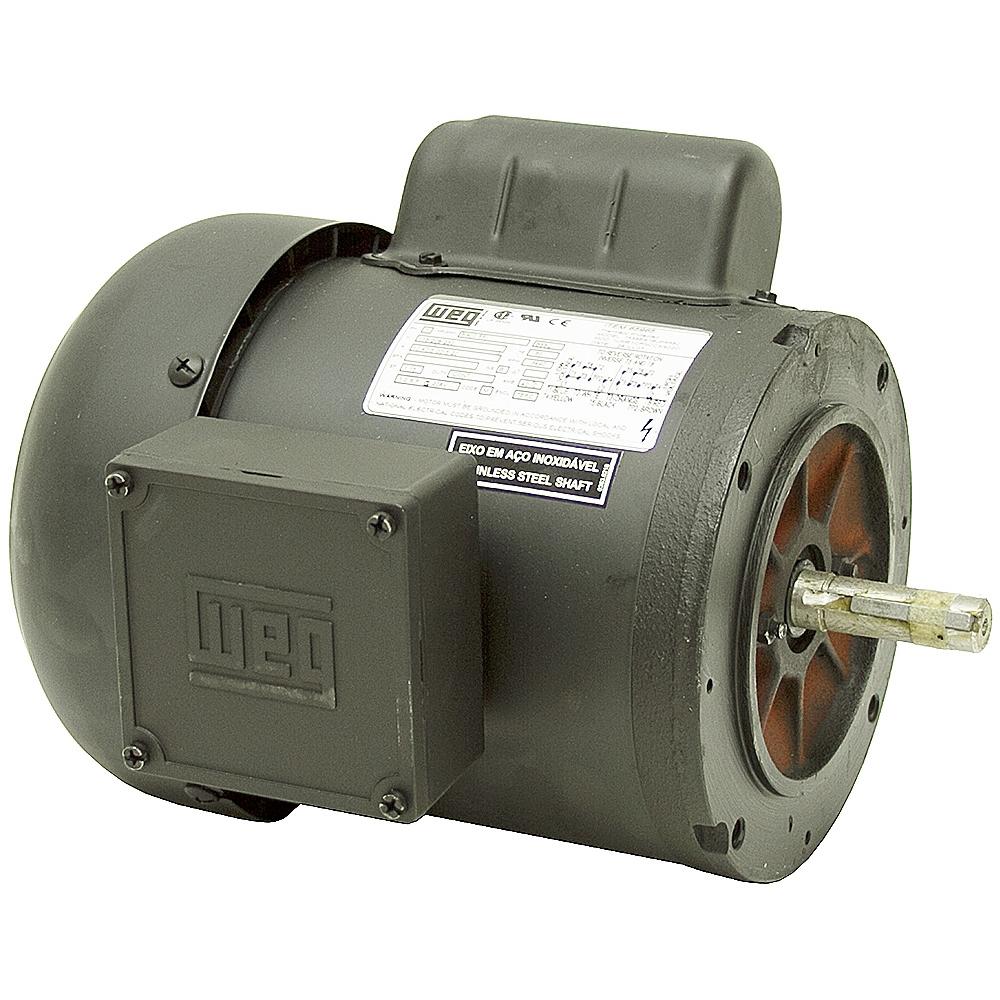 3 4 hp 3490 rpm 115 208 230 volt ac motor weg for Weg motors technical support