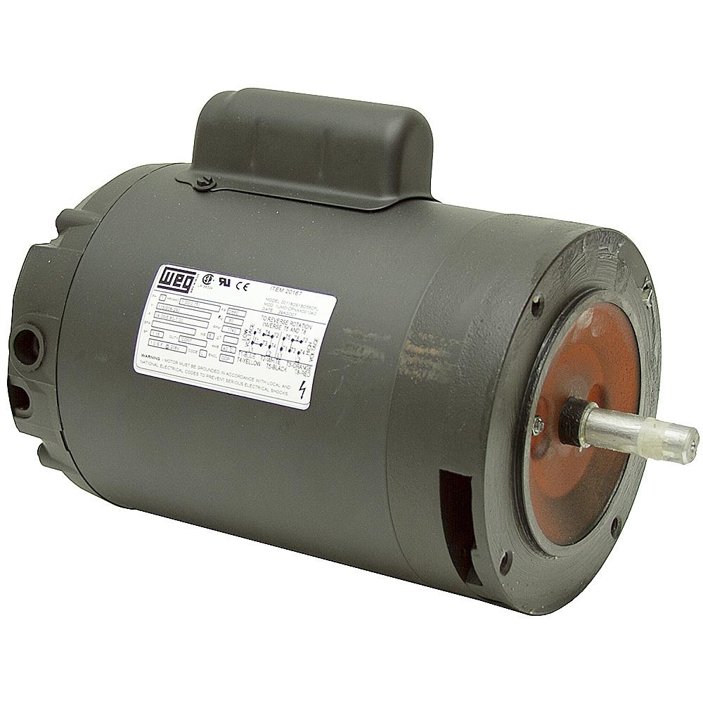 1 hp 1740 rpm weg motor 56c odp no base ac motors face for Weg motors technical support