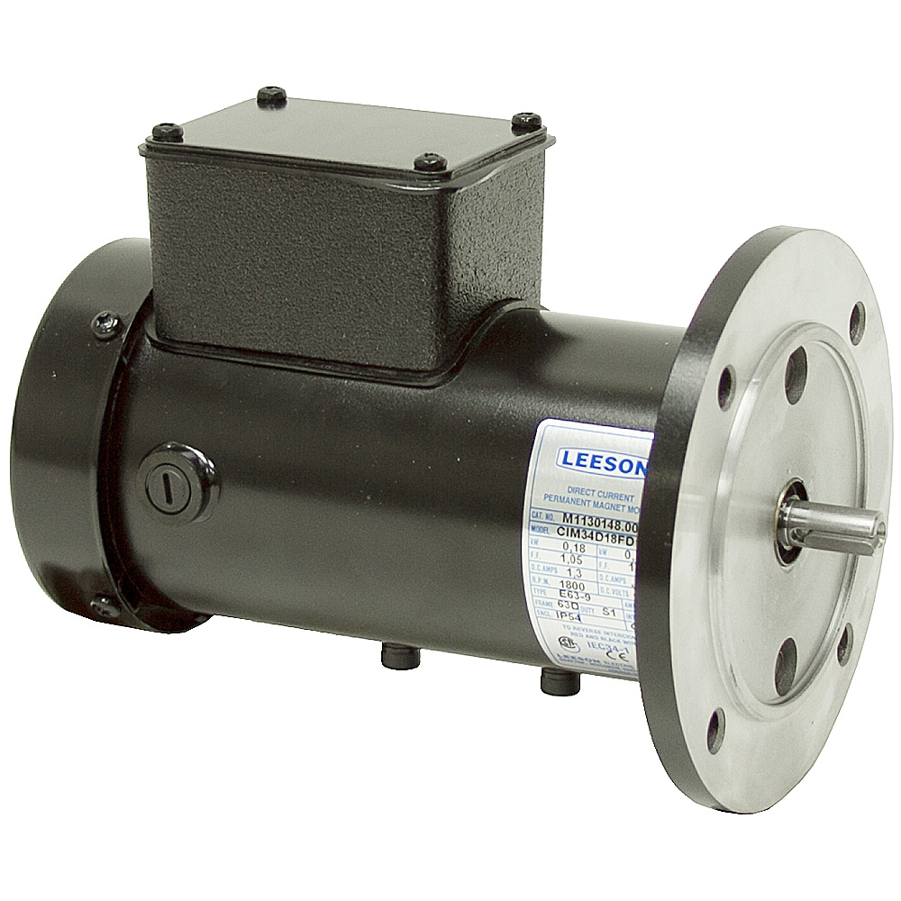 1 6 Hp 1800 Rpm 180 Vdc Leeson Pm Motor Dc Motors Face