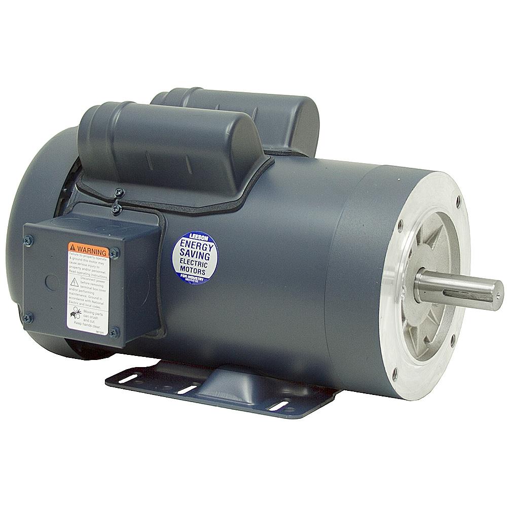 2 Hp 1800 Rpm 115  230 Volt Ac 145tc Tefc Leeson Motor