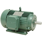 2 HP 1800 RPM 230/460 Volt AC 3Ph 145T Leeson Motor