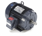 5 HP 1800 RPM 230/460 Volt AC 3Ph 184T Leeson Motor