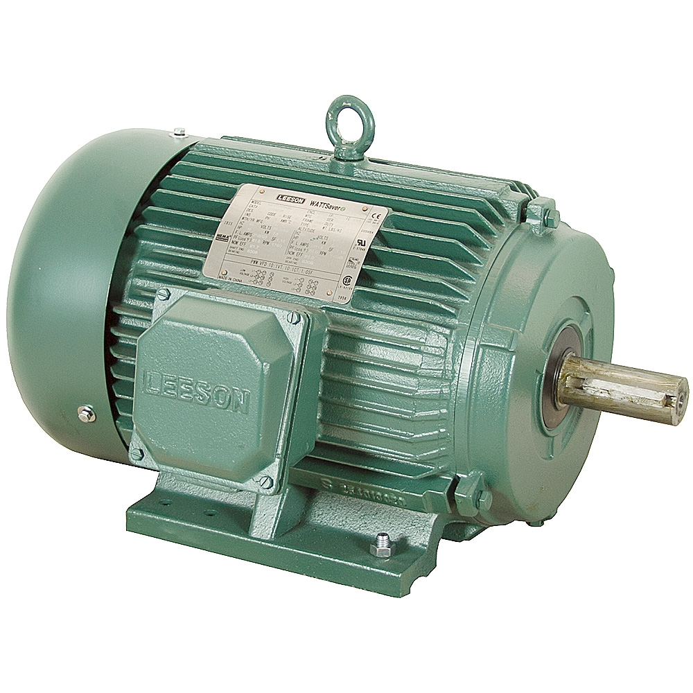 20 hp 1800 rpm 230 460 vac 3ph 256t leeson motor 3 phase