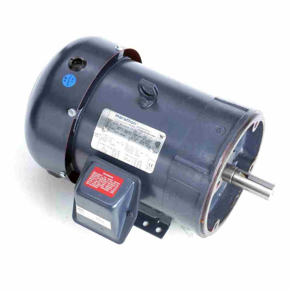 5 hp 1800 rpm 230 460 vac 3ph 184tc leeson motor 3 phase