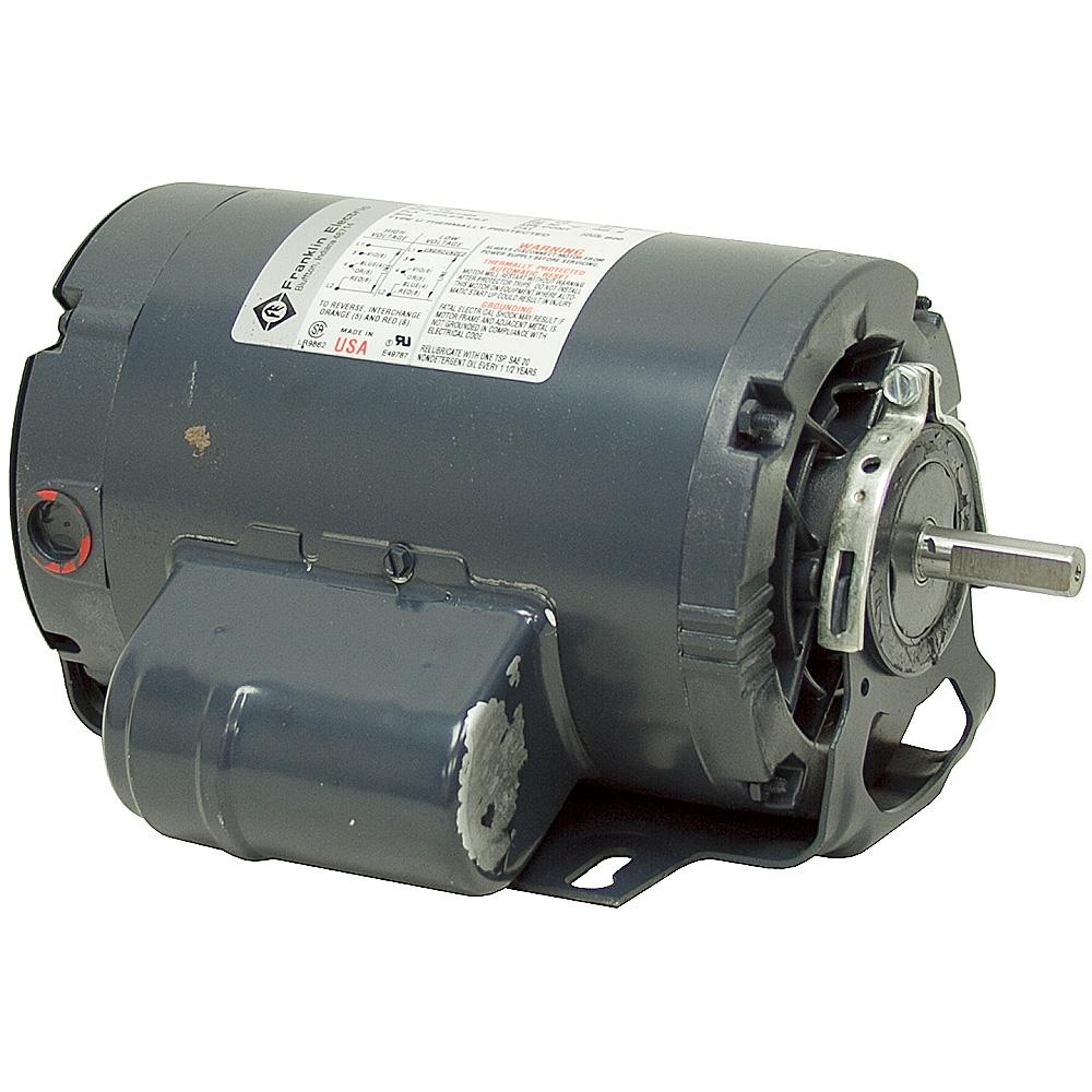 1 2 hp franklin motor ac motors base mount ac motors for Electric motor cost calculator
