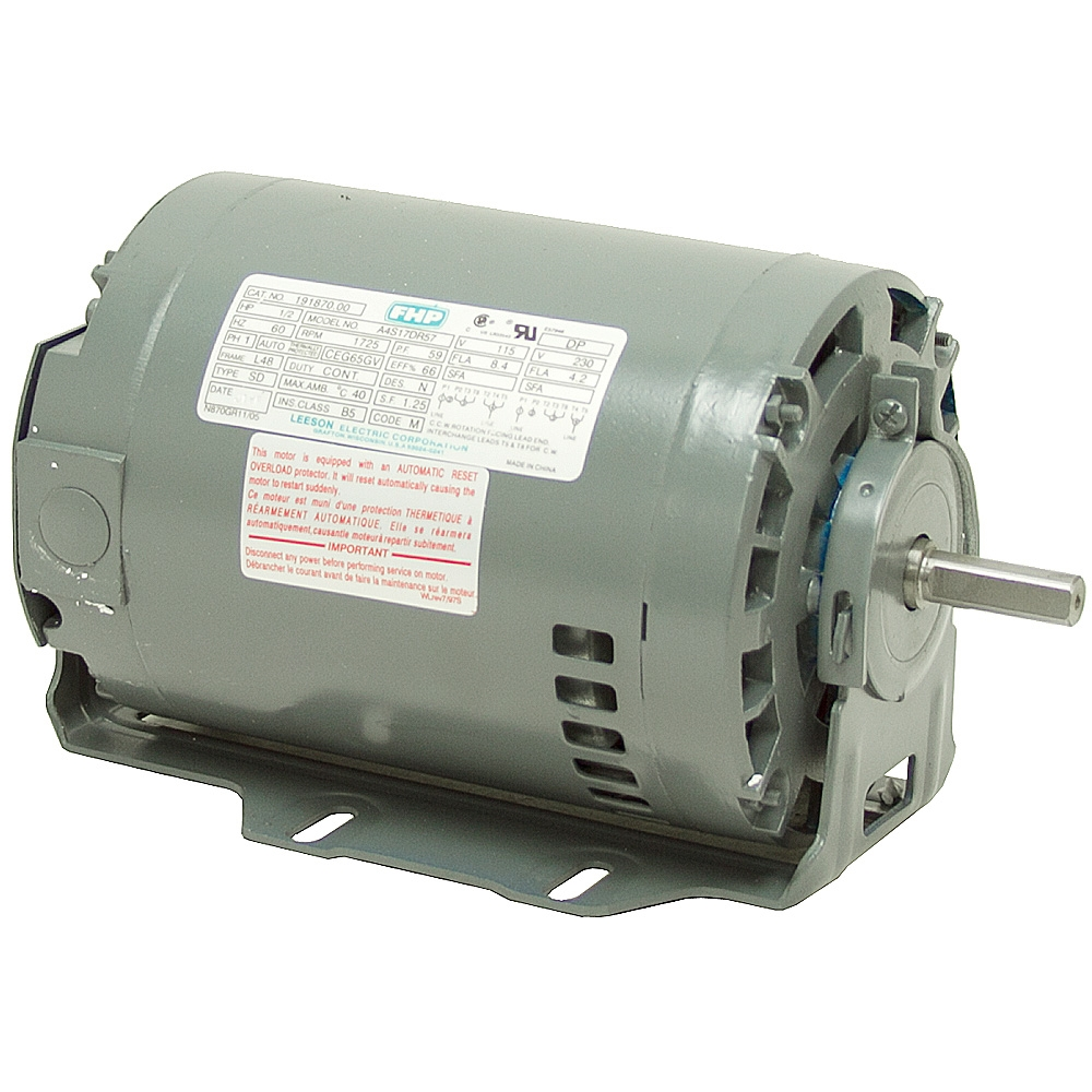 1 3 hp 1725 rpm 115 230 volt ac 48 frame fan motor ac for Electric motor base plate
