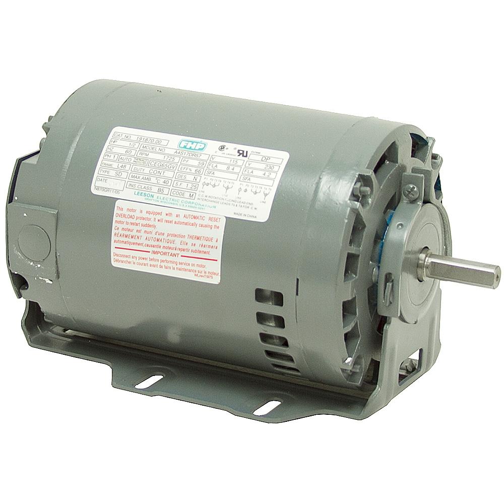 1 2 Hp 1725 Rpm 115 230 Vac 48 Frame Fan Motor Ac Motors