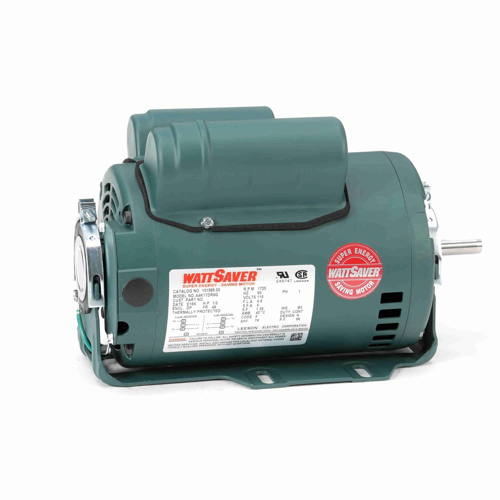 1 2 Hp 1725 Rpm 115 Vac Premium Fan Motor Ac Motors Base