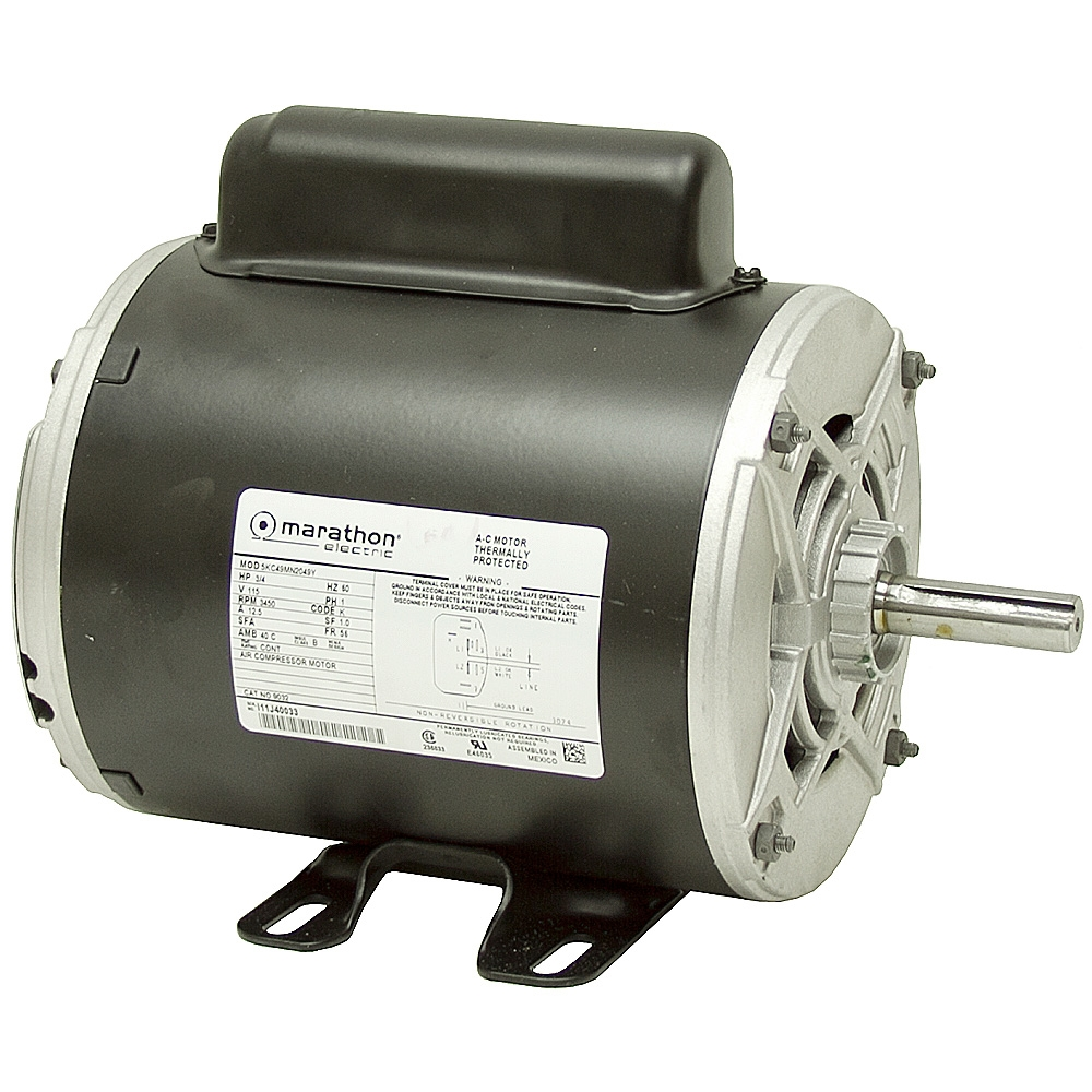 3 4 hp 3450 rpm 115 vac air compressor motor ac motors