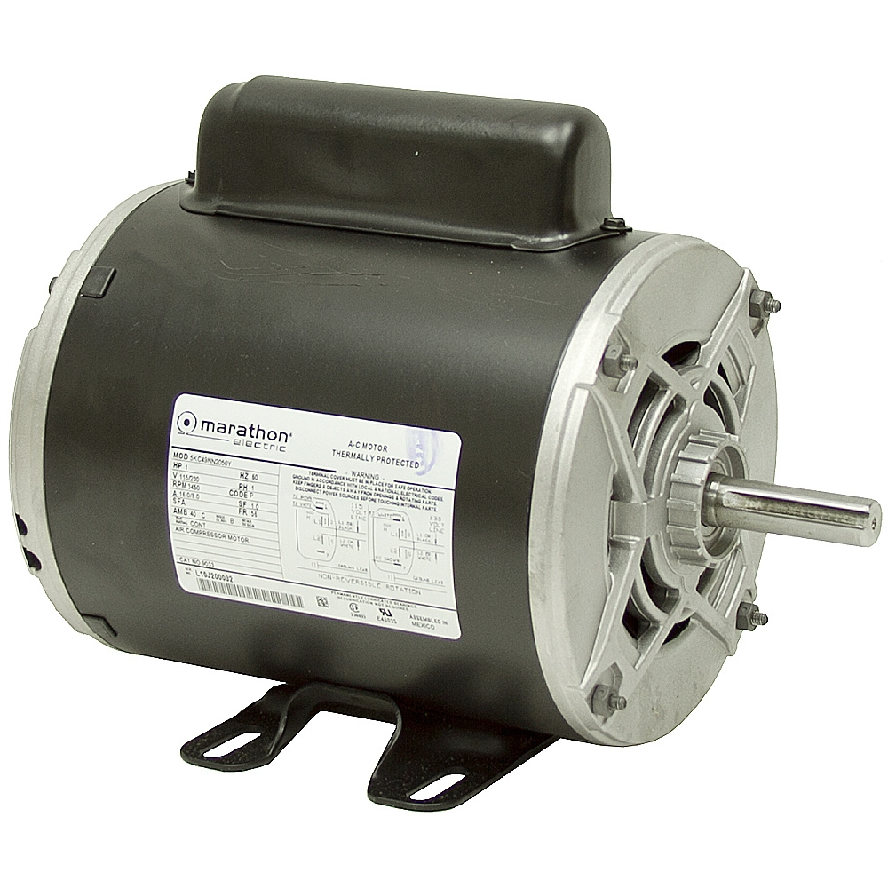 1 hp 3450 rpm 115 230 vac air compressor motor ac motors