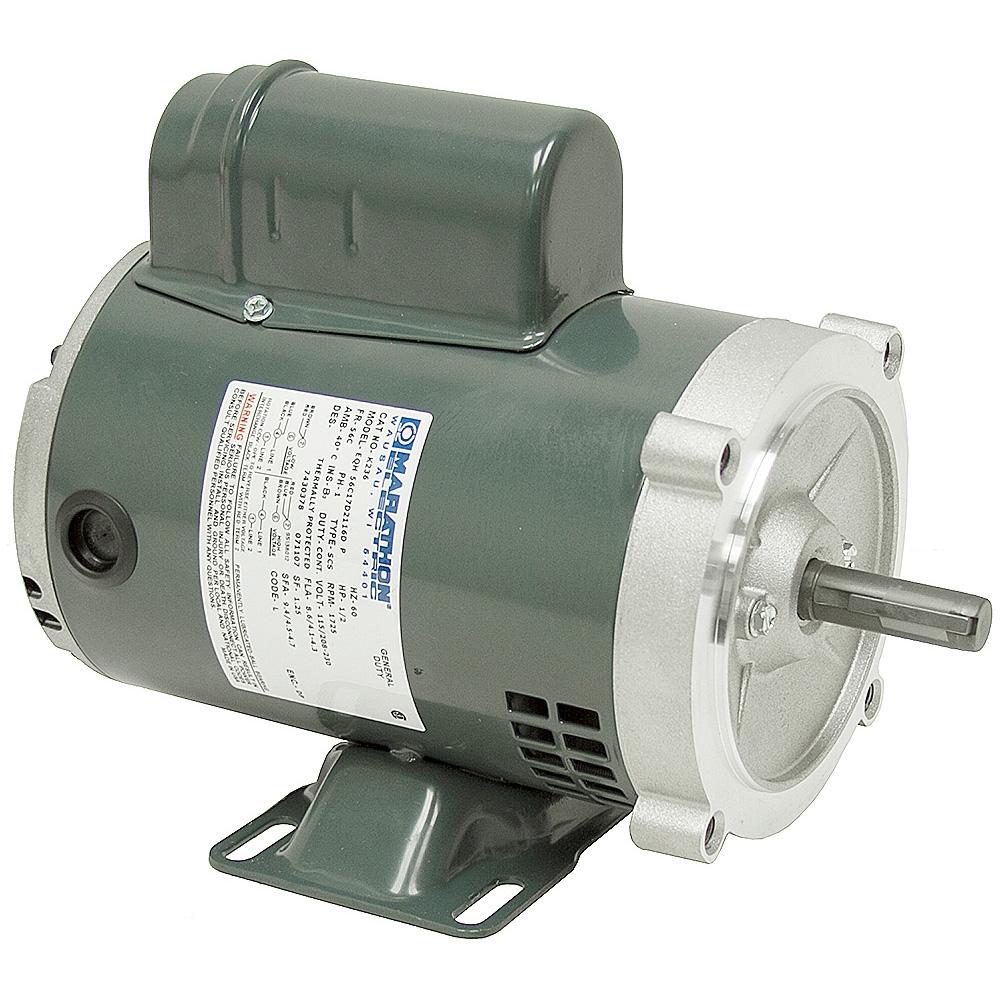 1 2 hp 1725 rpm 115 230 vac marathon motor 56c ac motors