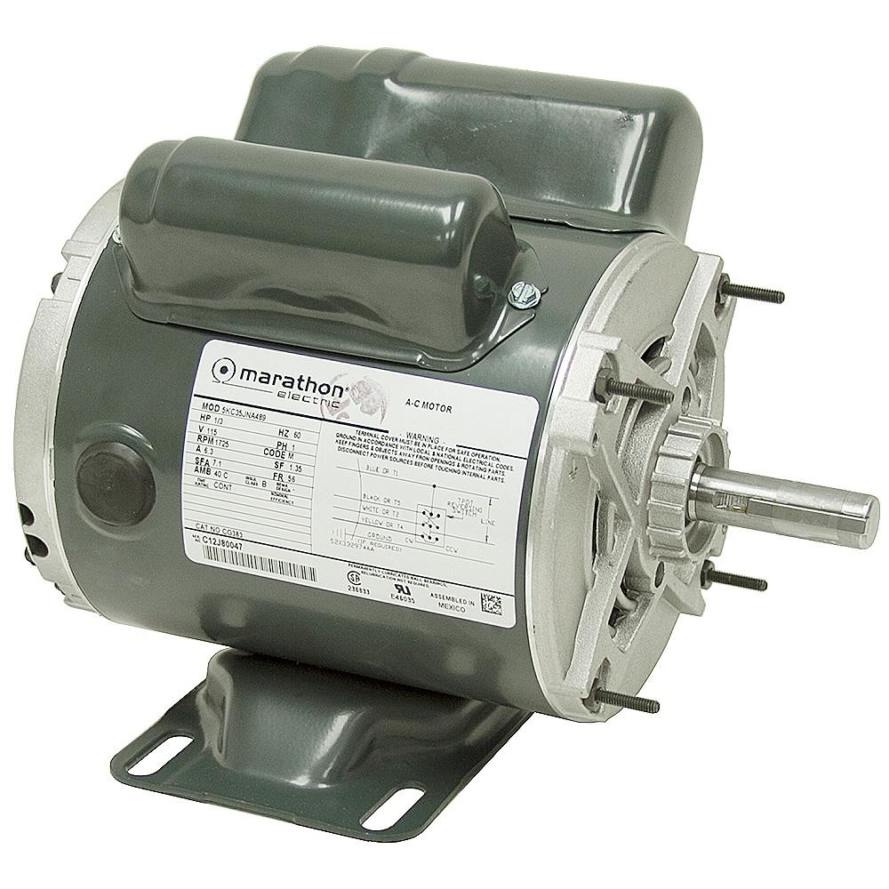 1 3 Hp 1725 Rpm 115 Vac Instant Reversing Motor Ac