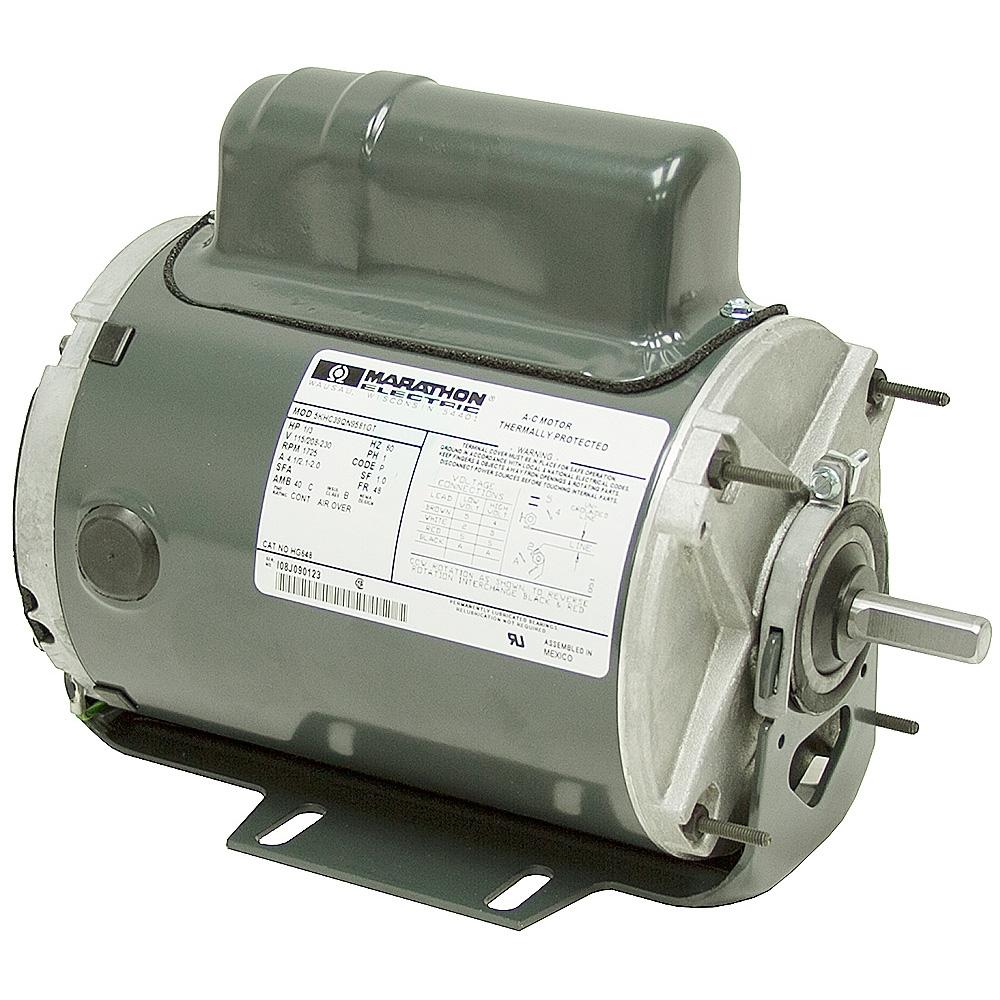 1 3 hp 1800 rpm marathon motor tenv 48 cradle ac motors for 1 hp motor rpm