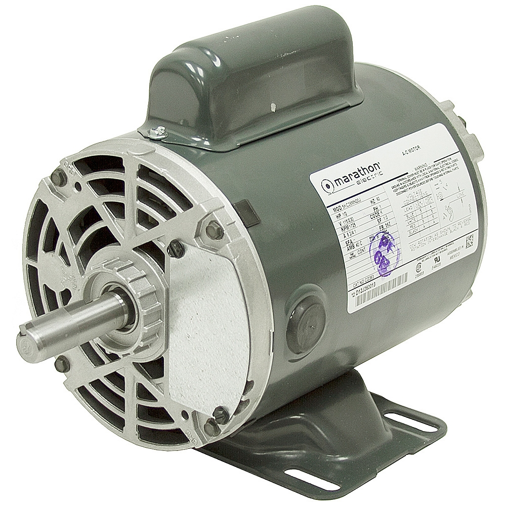 1 2 Hp 1725 Rpm 115 230 Vac Dual Shaft Motor Odp Ac