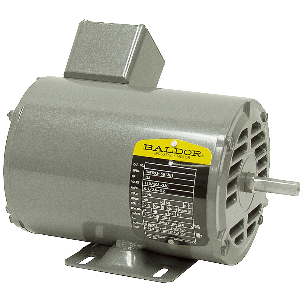 1 4 hp 1140 rpm 115 230 vac baldor motor ac motors base