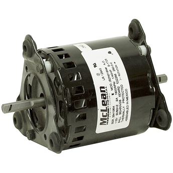 1600 rpm 115 vac dual shaft fan motor 1 40 hp fan air for Double ended shaft electric motor