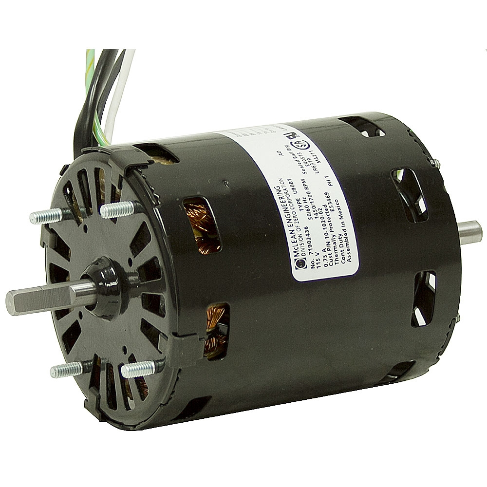 1700 rpm 115 vac dual shaft fan motor fan air for Air conditioner motor price