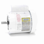 1/3 HP 1800 RPM 115/230 Volt AC Leeson Washguard 114311.00 White Epoxy Coated